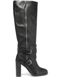 Rebecca Minkoff Black Billie Textured-leather Over-the-knee Boots