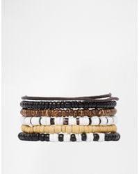 Classics 77 | Brown Woodstick Bracelet Pack for Men | Lyst