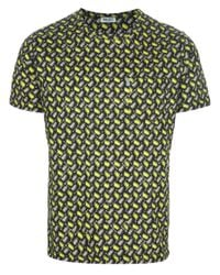 KENZO | Yellow Printed T-shirt for Men | Lyst