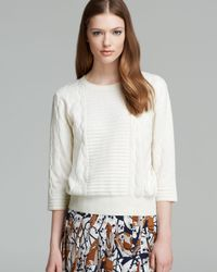 Marc By Marc Jacobs White Sweater Lucinda Pullover
