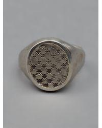 Werkstatt:münchen Metallic Stamped Signet Ring for men