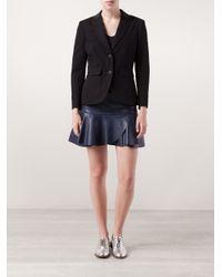 Rag & Bone Black Nancy Leather Lapel Blazer