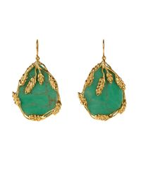 Aurelie Bidermann | Green Francoise Bakelite & Gold-plated Earrings | Lyst