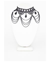 Missguided | Marcella Gothic Chandelier Style Necklace Black | Lyst