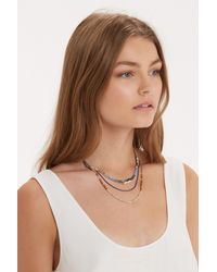 Oasis | Multicolor Mixed Bead Short Necklace | Lyst