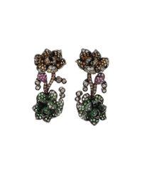 Wendy Yue - Multicolor Tsavorite Flower Earrings - Lyst