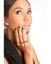 Trina Turk Metallic Double Finger Ring