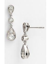Kwiat White 'sunburst' Diamond Drop Earrings