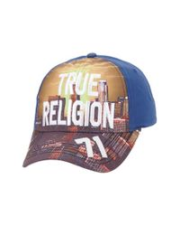 True Religion | Blue 'la Skyline' Ball Cap for Men | Lyst