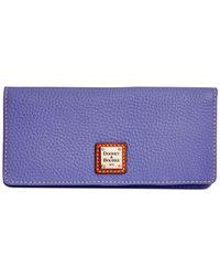 Dooney & Bourke - Purple Pebble Slim Wallet - Lyst