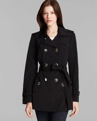Calvin Klein - Black Trench Coat - Double Breasted Belted - Lyst