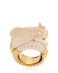 Bibi Van Der Velden Natural Seahorse Ring