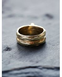 Free People | Metallic Luiny Womens Oval Black Agate Ring | Lyst