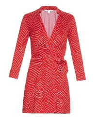 Diane von Furstenberg Red Celeste Playsuit