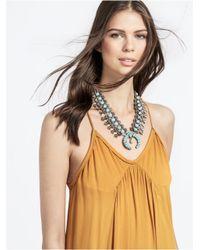 "BaubleBar Gray Capri Amulet Collar Necklace, 18""l"