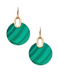 Michael Kors | Green City Disc Agate Earrings | Lyst