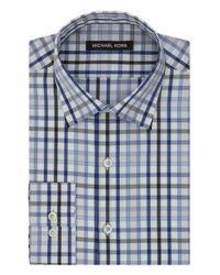 Michael Kors - Blue Classic Fit Plaid Dress Shirt for Men - Lyst