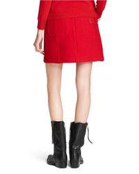 COACH Red X Blitz 'workwear' Wool Skirt