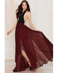 Nasty Gal | The Gift Of Wrap Skirt - Red | Lyst