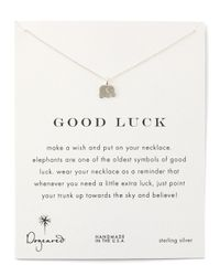 Dogeared Blue Good Luck Necklace for men