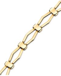 Macy's - Metallic 14K Gold Diamond Shaped Bracelet - Lyst