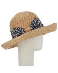 John Lewis Natural Bow Detail Garden Sun Hat