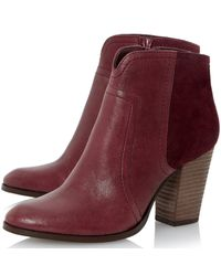Dune | Purple Sibyl Block Heeled Over The Knee Boots | Lyst