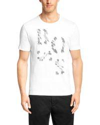 BOSS White Regular Fit Cotton T-shirt: 'terni 120' for men