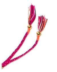 Lizzie Fortunato Pink Amulet Horn Necklace