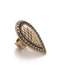 Samantha Wills Metallic Bohemian Bardot Armour Ring - Antique Gold