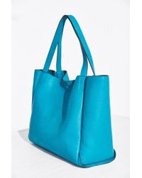 Silence + Noise Blue Modern Tote Bag