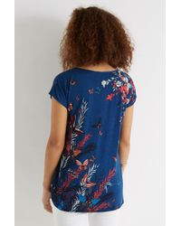 Oasis Blue Butterfly Reed Placement Tee