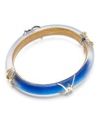 Alexis Bittar | Blue Lucite Barbed Wire Hinge Bangle - Bloomingdale's Exclusive | Lyst