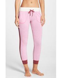 Jane & Bleecker New York | Pink Washed Jersey Lounge Pants | Lyst