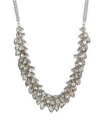 ABS By Allen Schwartz | Metallic Beaded Collar Necklace | Lyst