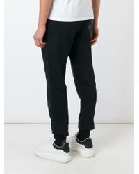 Philipp Plein | Black Ribbed Panel Track Pants for Men | Lyst