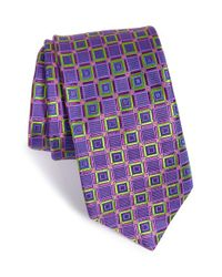 Ted Baker | Green Geometric Silk Tie for Men | Lyst