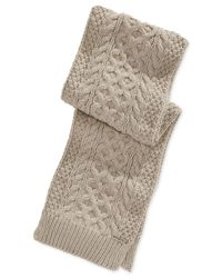 Michael Kors | Natural Michael Handknit Cable Muffler Scarf for Men | Lyst