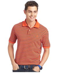 Izod | Orange Short Sleeve Stripe Polo for Men | Lyst