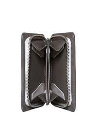 Bonastre Gray Mini Vegetable Tanned Leather Wallet