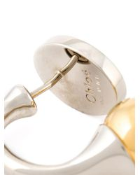 Chloé | Metallic 'Darcey' Earrings | Lyst