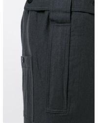 Ann Demeulemeester - Black Straight Leg Trousers for Men - Lyst