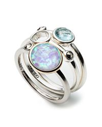 Judith Jack | Metallic Caribbean Breeze Opal And Sterling Silver Ring Set - 3 | Lyst