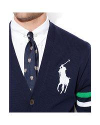 Ralph Lauren Blue Polo Us Open Vneck Cardigan for men