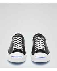 Reiss | Black Jack Purcell Leather Jack Purcell Sneakers for Men | Lyst