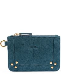 Jérôme Dreyfuss   Blue Turquoise Small Lambskin Pouch   Lyst