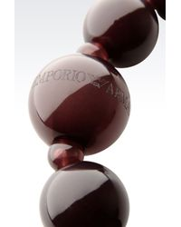 Emporio Armani | Brown Necklace With Resin Spheres | Lyst