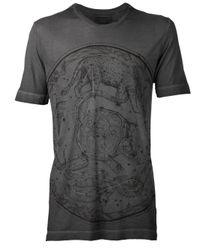 Diesel Black Gold Gray Constellation Print Tshirt for men