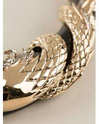 Roberto Cavalli Metallic Swarovsky Horses Necklace