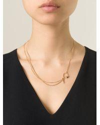 Puro Iosselliani | Metallic Garnet Ring Tangled Necklace | Lyst